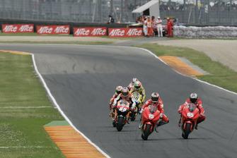 Sete Gibernau, Duacti Team; Loris Capirossi, Ducati Team; Nicky Hayden, Repsol Honda Team