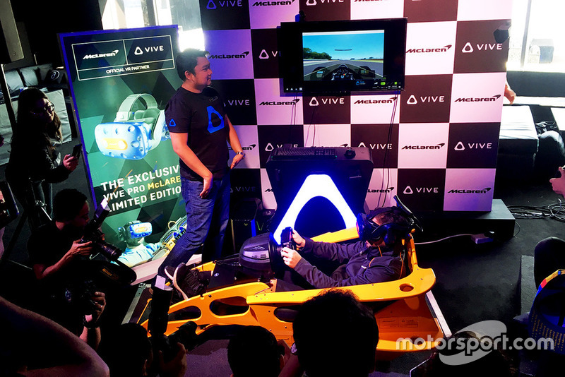 McLaren Formula 1 team and HTC, special edition virtual-reality headset and racing game launch