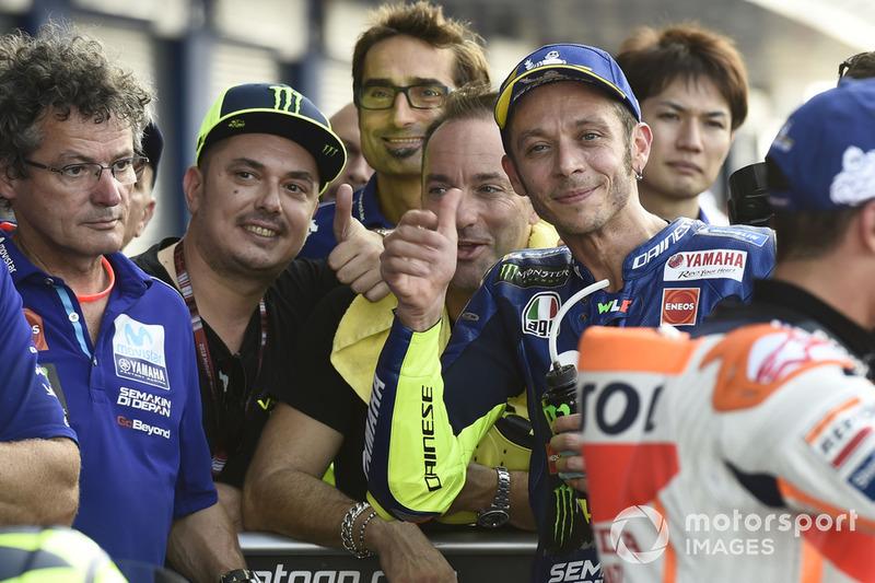 Valentino Rossi, Yamaha Factory Racing, secondo qualificato