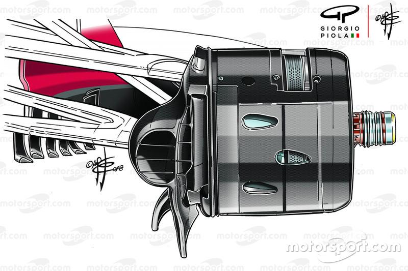 Ducto de freno del Ferrari SF71H