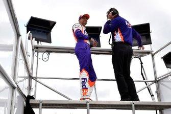 Denny Hamlin, Joe Gibbs Racing, Toyota Camry FedEx Ground and Christopher Gabehart