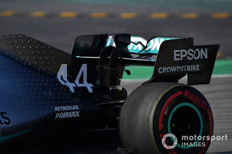 L'aileron arrière de la Mercedes-AMG F1 W10