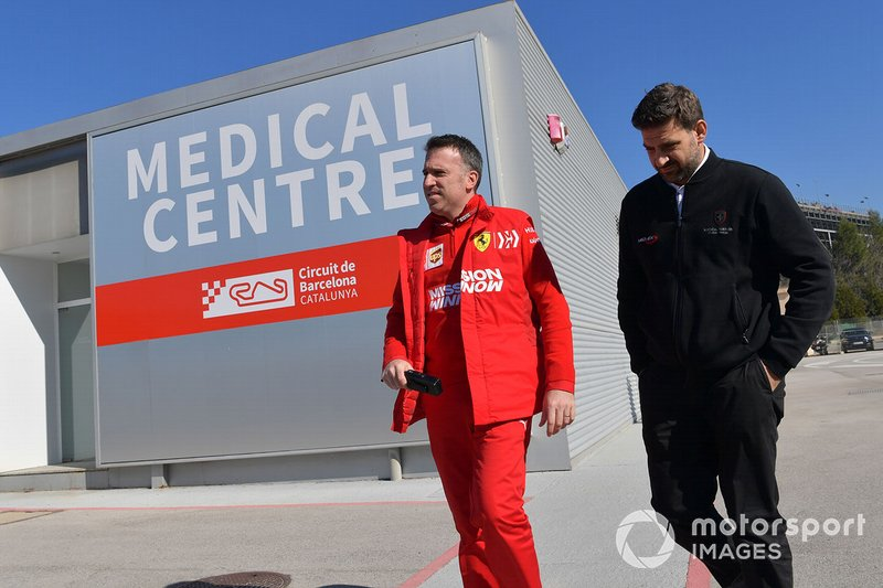 Ferrari personel at the Medical Centre