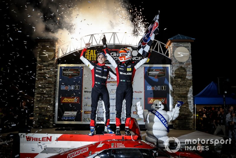 Podio: #31 Whelen Engineering Racing Cadillac DPi, DPi: Felipe Nasr, Pipo Derani, Eric Curran