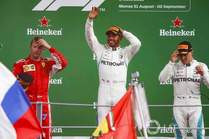 GP de Italia: 1º Hamilton, 2º Raikkonen, 3º Bottas