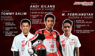 Tommy Salim, Andi Gilang dan M Febriansyah, Astra Honda Racing Team