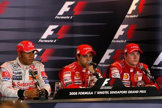 Льюис Хэмилтон, McLaren, Фелипе Масса и Кими Райкконен, Ferrari