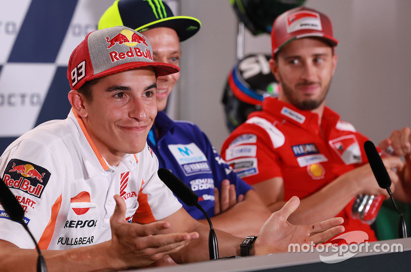 Марк Маркес, Repsol Honda Team, Валентино Россі, Yamaha Factory Racing, Андреа Довіціозо, Ducati Team