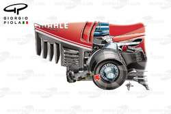 Ferrari SF16H diffuser, captioned, German GP