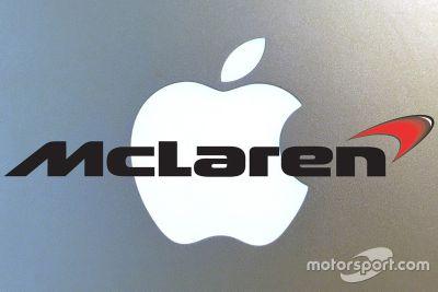 Logos da Apple e da McLaren combinados