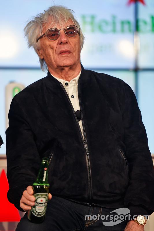 Bernie Ecclestone, lors de l'annonce de sponsoring d'Heineken