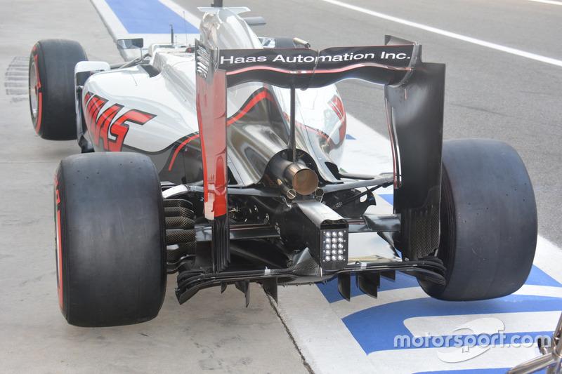 Haas F1 Team VF-16, arka bölüm