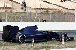 Max Verstappen Scuderia Toro Rosso STR11 se detiene en el circuoto