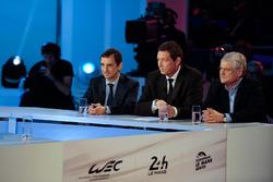 ACO Präsident Pierre Fillon, WEC CEO Gérard Neveu, Jacques Nicolet