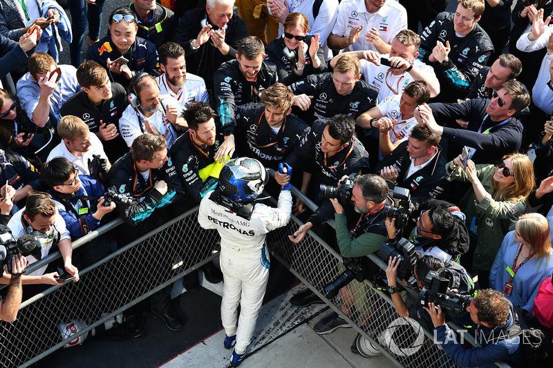 Valtteri Bottas, Mercedes-AMG F1 dans le Parc Fermé