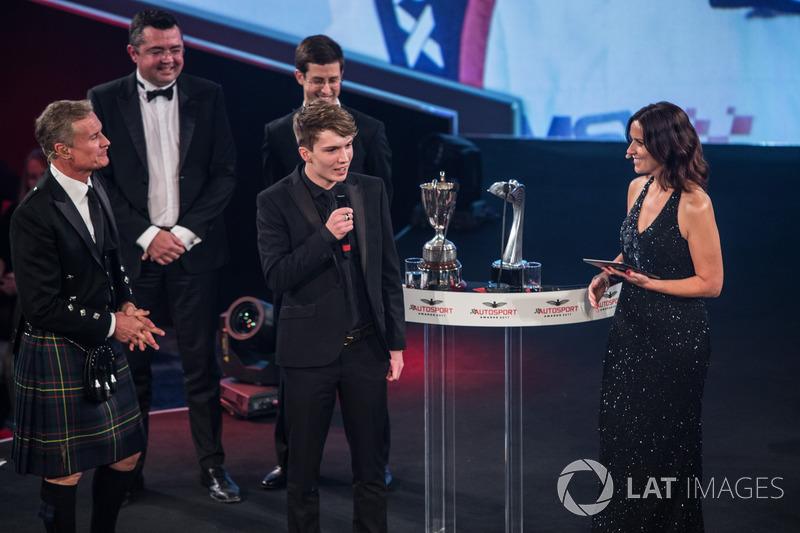 Daniel Ticktum wins the McLaren Autosport Young Driver of the Year Award