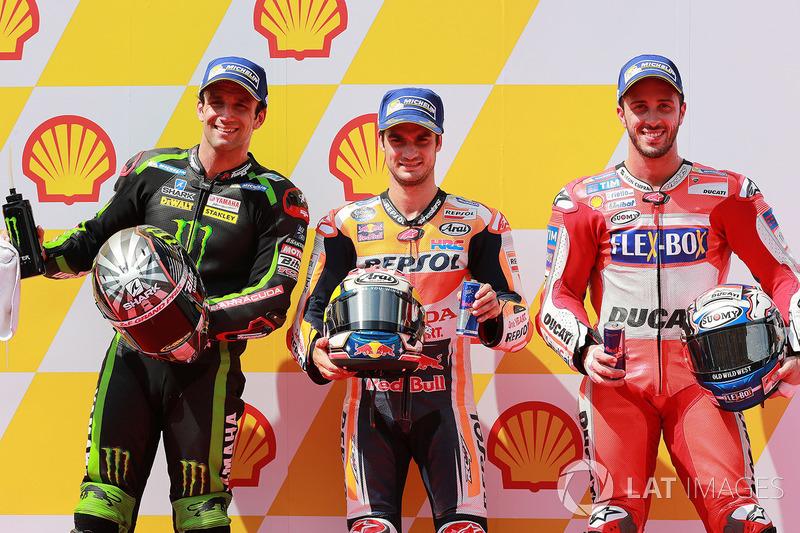 Pole Dani Pedrosa, Repsol Honda Team, segundo Johann Zarco, Monster Yamaha Tech 3, tercero Andrea Dovizioso, Ducati Team