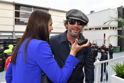 Minttu Virtanen, wife of Kimi Raikkonen, Ferrari Jay Kay, Jamiroquai on the grid