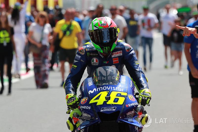 Thrid place Valentino Rossi, Yamaha Factory Racing