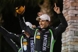 Overall podium: winners Pipo Derani, Johannes van Overbeek, Nicolas Lapierre Tequila Patron ESM Nissan