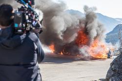 Une Alpine A110 prend feu