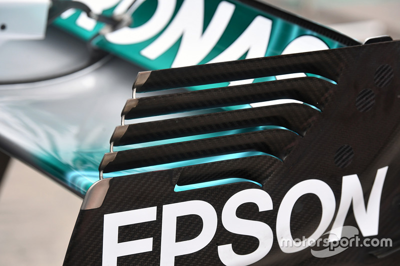 Mercedes-Benz F1 W08  rear wing detail