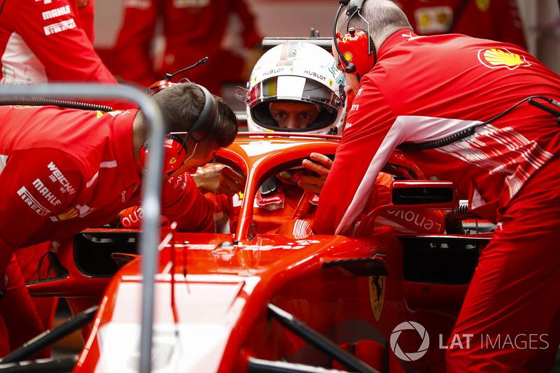 Sebastian Vettel, Ferrari, in his cockpit