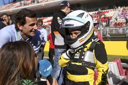 Pedro de la Rosa, avec un jeune pilote de kart du RACC