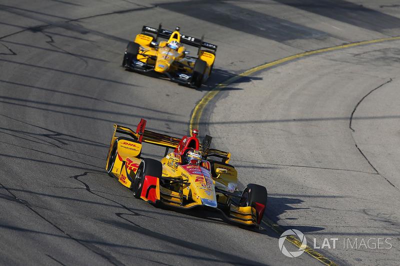 Ryan Hunter-Reay, Andretti Autosport Honda, Graham Rahal, Rahal Letterman Lanigan Racing Honda