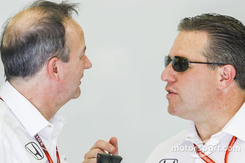 Jonathan Neale, Managing Director, McLaren, with Zak Brown, Executive Director, McLaren Technology G