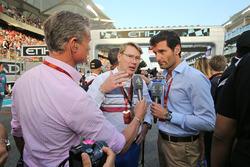 David Coulthard, Red Bull Racing y Scuderia Toro Asesor/ Chanal 4 F1 Comentarista con Mika Hakkinen,