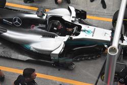 Mercedes AMG F1 W08 barge boards