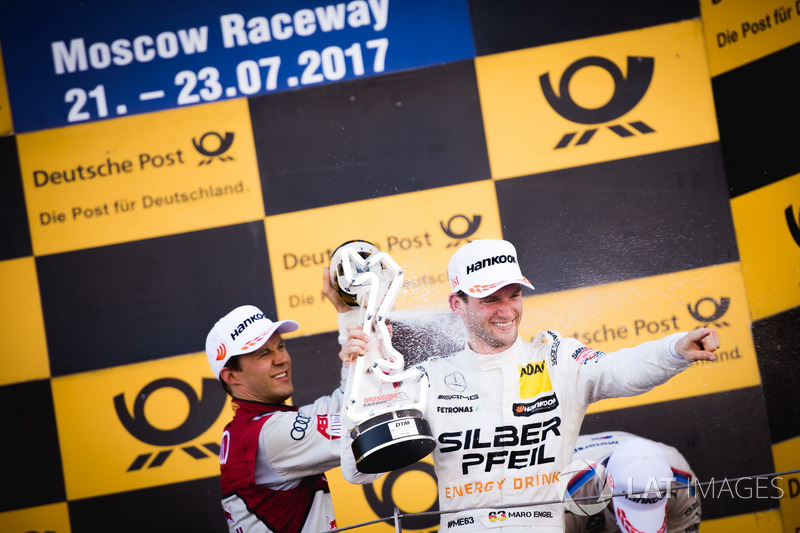 Podio: Mattias Ekström, Audi Sport Team Abt Sportsline, Audi A5 DTM y Maro Engel, Mercedes-AMG Team HWA, Mercedes-AMG C63 DTM