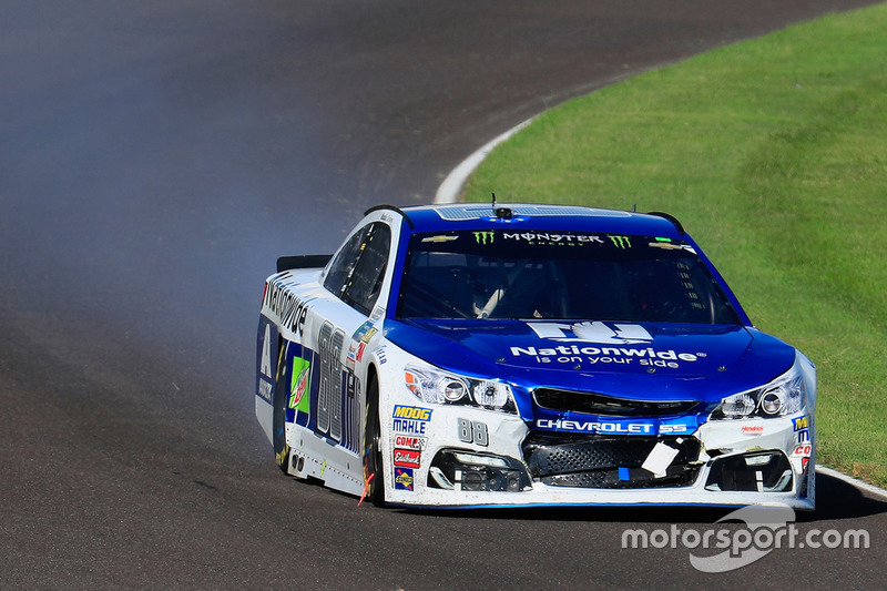 Dale Earnhardt Jr., Hendrick Motorsports Chevrolet, after crashing