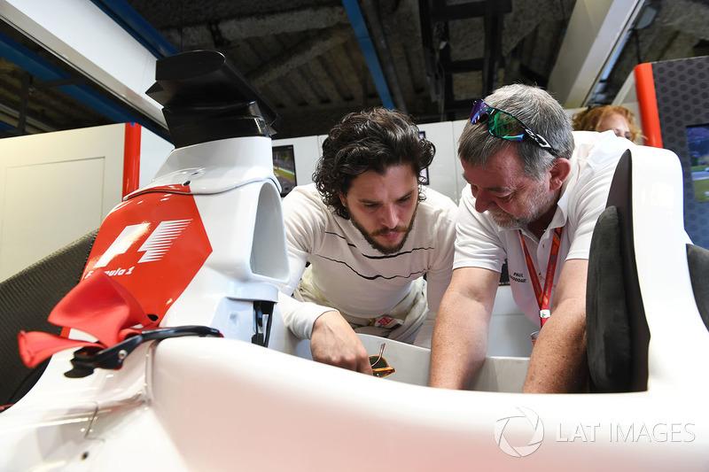 F1 Experiences 2-Seater passenger Kit Harington, Actor and Paul Stoddart
