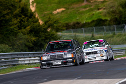 Klaus Ludwig, Mercedes 190 DTM y Johnny Cecotto, BMW M3 DTM