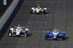 Helio Castroneves, Team Penske Chevrolet, Takuma Sato, Andretti Autosport Honda, Ed Jones, Dale Coyne Racing Honda