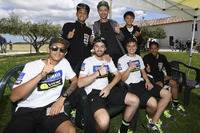 Valentino Rossi with the participants of the Yamaha VR46 Master Camp