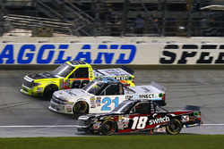 Noah Gragson, Kyle Busch Motorsports Toyota, Johnny Sauter, GMS Racing Chevrolet and Matt Crafton, ThorSport Racing Toyota
