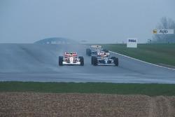 Ayrton Senna, McLaren MP4/8 Ford, Alain Prost, Williams FW15C Renault