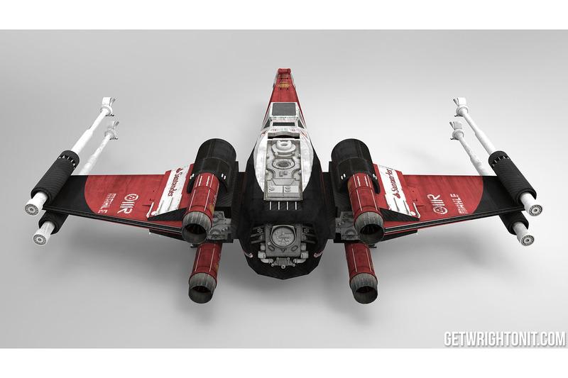 X-Wing in Ferrari-design