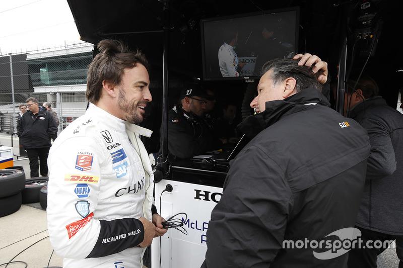 Fernando Alonso, Andretti Autosport Honda, Michael Andretti