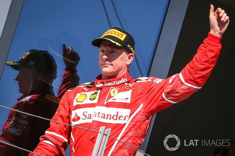 Podium : le deuxième, Kimi Raikkonen, Ferrari