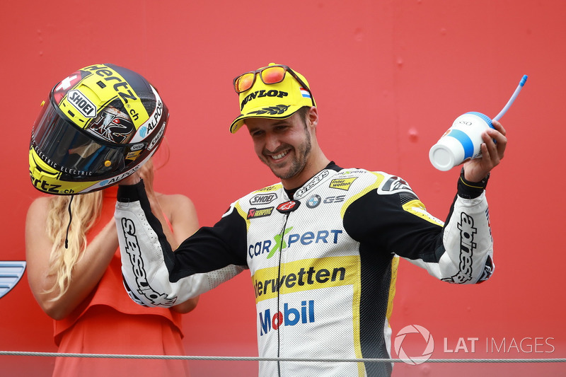 Podium: second place Thomas Luthi, CarXpert Interwetten