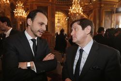 Nicolas Deschaux, Präsident des französischen Motorsport-Verbands, und Patrick Kanner, französischer