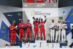 LMGTE Pro Podium: winners, Davide Rigon, Sam Bird, AF Corse, Gianmaria Bruni, James Calado, second p