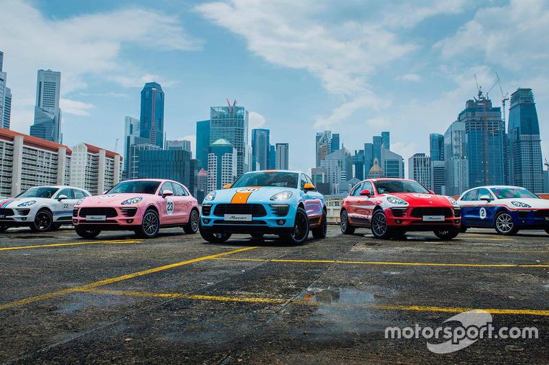 Porsche Macans with classic motorsport liveries