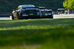 #13 Pfaff Motorsports Porsche Cayman GT4 CS-MR: Orey Fidani, Kyle Marcelli, #78 Compass Racing McLaren 570S GT4: Ray Mason, Paul Holton