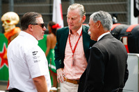 Zak Brown, Executive Director, McLaren Technology Group, Sean Bratches, Managing Director of Commercial Operations, Formula One Group, Chase Carey, Chairman, Formula One