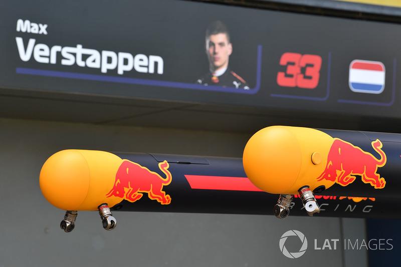 Dettaglio del box Red Bull Racing